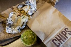 Inside the bag at Chipotle