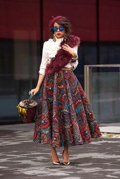 Beautiful African Fashion Glamsugar.com I want that skirt