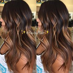 Waiting list info text For immediate availability text Brown Hair Balayage, Hair Color Balayage, Hair Highlights, Ombre Hair, Bayalage, Hair Color And Cut, Hair Painting, Brunette Hair, Great Hair