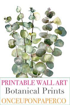 Eucalyptus printable, Eucalyptus poster, Eucalyptus wall art, Printable, Eucalyptus art, Eucalyptus leaves, Printable wall art