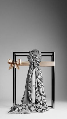Burberry Floral Tile Print Scarf