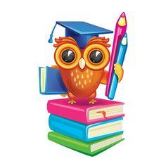 Owl with his Diploma Owl School, School Teacher, Class Decoration, School Decorations, Owl Classroom, Classroom Decor, School Clipart, Pokemon Coloring, Academic Success