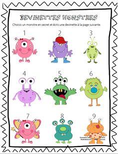 French Monsters activity book/ Cahier d'activités sur les monstres