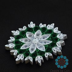 Quilled snowflake, model 2..