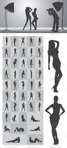 Girl Silhouettes Nice and High Detail Silhouettes. in this items onsists of : Ai ( open with adobe illustrator ) EPS ( open with adobe illustrator or applications that supports eps file ) PNG ( open with adobe photoshop ) SVG ( open with ink Picture Poses, Photo Poses, Picture Ideas, Photography 101, Portrait Photography, Silhouette Photography, Boudoir Photography Poses, Portrait Studio, Modeling Tips