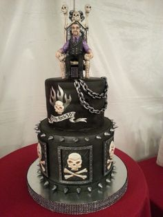 Milty rocks 50 heavy metal cake by Rock Candy Cakes