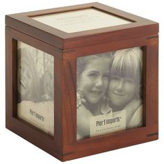 Forget Rubik—this is the perfect cube, with five of your favorite photos in a joinery wood frame. Plus, there's a lid on top that opens to a secret compartment, perhaps for items associated with the depicted loved ones. Or even a cubic puzzle game. It's your secret when you buy the box.