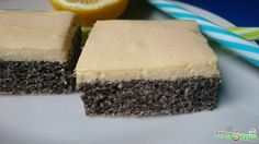 Citromkrémes mákos szelet Vegan Vegetarian, Paleo, Cheesecake, Cukor, Sweets, Healthy, Food, Recipe, Poppy