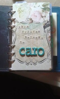 cbee's cards and more: Filofax: verschiedene Listen und nochmal die ersten Seiten Filofax, Cards, The Last Song, Random Stuff, Maps, Playing Cards