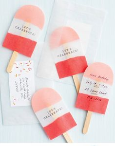 paper popsicle summer party invites