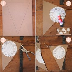 doily steps - some with pics and some with doilies?