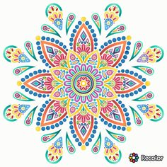Mandala Art, Mandala Drawing, Mandala Painting, Flower Mandala, Dot Painting, Mandala Design, Coloring Book Art, Mandala Coloring Pages, Wall Art Designs