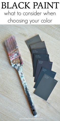Best Black Paint Colors is part of painting Walls Black - Choosing paint can be difficult, especially black I'm sharing how to make sure you choose the best black paint colors for your home Wall Paint Colors, Bedroom Paint Colors, Interior Paint Colors, Home Interior Design, Interior Office, Interior Painting, Modern Interior, Paint Decor, Black Interior Doors