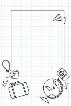 Bullet Journal Banner, Bullet Journal Writing, Bullet Journal Aesthetic, Bullet Journal Ideas Pages, Bullet Journal Inspiration, Travel Inspiration, Travel Doodles, Bibel Journal, Page Borders Design