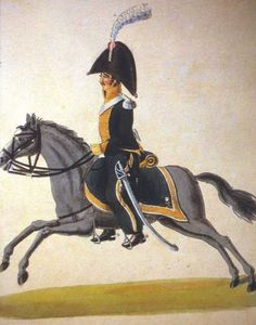 FRANCE - Officer of 9th Chevaulegers