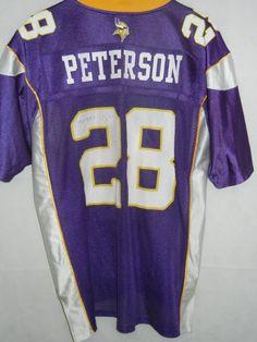 c01c4dab9c3 Reebok Minnesota Vikings Adrian Peterson Men's NFL Jersey - Size Medium for  sale online