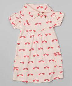 Loving this Peony & Carnation Elephant Organic Lounge Dress - Toddler & Girls on #zulily! #zulilyfinds