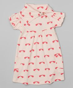 This Peony & Carnation Elephant Organic Lounge Dress - Toddler & Girls by kate quinn organics is perfect! #zulilyfinds