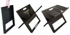 Backyard Classic Slim Fold Portable Tailgate Camping Charcoal X-Shape BBQ Grill