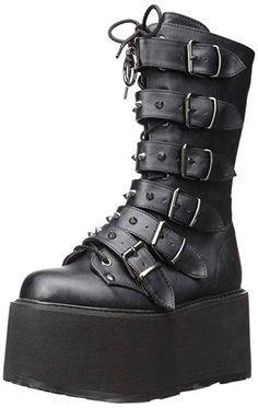 d753eb56777 Swing 105 Black Matte Multiple Buckle Ankle Boot 5.5