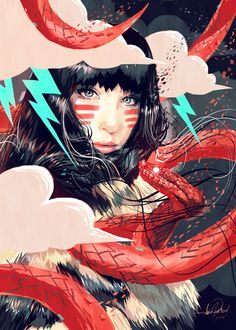 'Eskimo Snake Girl' by Javier G. Pacheco