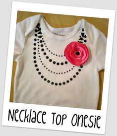 DIY onesie : Necklace Top Onesie