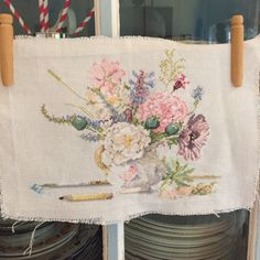 Wild flowers cross stitch designed by Marjolein Bastin..