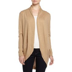 Neiman Marcus Long-Sleeve Knit Cocoon Cardigan ($85) ❤ liked on Polyvore featuring tops, cardigans, camel, knit cocoon cardigan, beige cardigan, cocoon cardigan, beige top and long sleeve tops