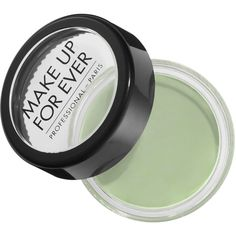 MAKE UP FOR EVER Green Camouflage Cream Pot (£14) ❤ liked on Polyvore featuring beauty products, makeup, face makeup, palette makeup and make up for ever