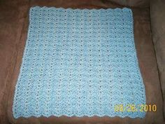 "P&J Burial Blanket   Sport weight yarn G hook  I made this with Red Heart Baby Soft and a G hook and it measures 19"" x 19"". If you would ..."