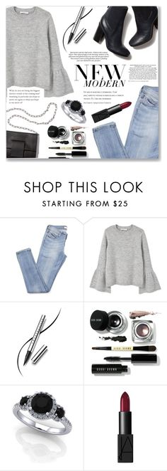"""""""New Modern"""" by loloksage ❤ liked on Polyvore featuring MANGO, Chantecaille, Tory Burch, MM6 Maison Margiela, Bobbi Brown Cosmetics, NARS Cosmetics and modern"""