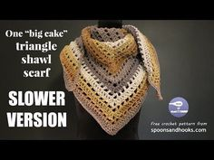 You need only a single Caron Big Cake to create this versatile shawl scarf using elementary crochet stitches.