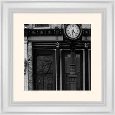 Clock Stand Framed Print, White, Classic, White, Cream, Single piece, 12 x 12 inches, White