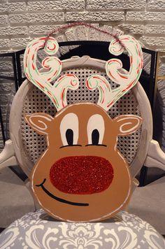 Reindeer Door Hanger by ThatSouthernStamp on Etsy
