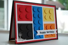 stampin up lego card and a rainbow too! Perfect for a lego-lovin' little fella!