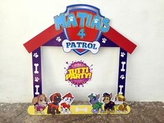 Photo frame paw patrol, paw patrol Party ideas, patrulla de cachorros marco para fotos, fiesta patrulla de cachorros