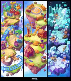 Game Background, Cartoon Background, Environment Concept Art, Game Environment, Game Design, Game Art, Isometric Map, Map Games, Game Concept Art