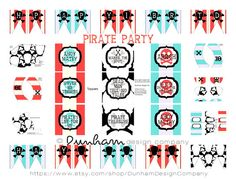 Modern Pirate Party Printable by Dunham Design Company