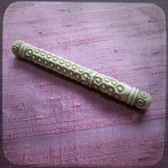 A beautiful finding from France...    This beautiful Needle Case is made of cattle bone. A beautiful and precious hand carved tiny box !  It
