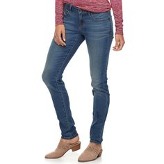 """1b6f83a6703 Women s SONOMA Goods for Lifeâ""""¢ Supersoft Stretch Curvy Skinny Jeans"""