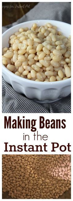 Cooking beans in your Instant Pot is one of the easiest things to do - but before you get started, you might want to read our tips! (Potato Recipes In Oven) Pressure Cooking Recipes, Slow Cooker Recipes, Crockpot Recipes, Cooking Tips, Cooking Classes, Cooking Games, Easy Cooking, Cooking Quotes, Crockpot Dishes