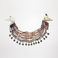 Necklace from Nagaland l Bone, shell and beads.