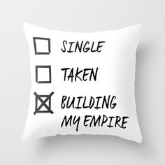 Construyendo nuestro imperio!!Decor Pillow  Building My Empire. by MISSWITHIT on Etsy, $30.99