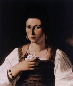 CARAVAGGIO Portrait of a Courtesan c. 1598 Oil on canvas, 66 x 53 cm Formerly Kaiser-Friedrich-Museum, Berlin