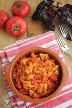 Bacalao-ajoarriero-(12) Fish And Seafood, Curry, Breakfast, Ethnic Recipes, Gastronomia, Roasted Red Peppers, Sweets, Spanish Food, Cook
