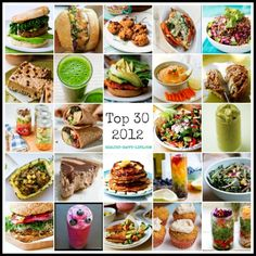 Top 30 Posts of 2012! I couldn't pick just one recipe to pin! The matcha smoothie and the pineapple quinoa boat will be happening in my kitchen for sure!