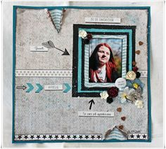Scrappiness: Layout med papirdesign. Scrapbooking, Layout, Home Decor, Decoration Home, Page Layout, Room Decor, Scrapbooks, Home Interior Design, Memory Books