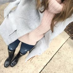 """""""This coat again  but lighter colors are needed for gloomy and rainy days, don't you agree  Almost this entire look is on sale right now - this coat is…"""""""