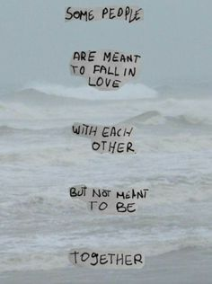 Not meant to be together.