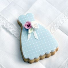 Shabby chic party dress cookie by Icing Bliss, via Flickr